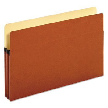 "Redrope Expanding File Pockets, 1.75"" Expansion, Legal Size, Redrope, 25/Box"