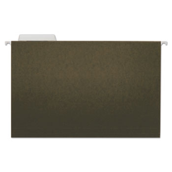 Universal Hanging File Folders, Legal Size, 1/3-Cut Tab, Standard Green, 25/Box