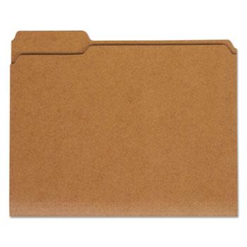 Universal® Reinforced Kraft Top Tab File Folders, 1/3-Cut Tabs, Letter Size, Kraft, 100/Box