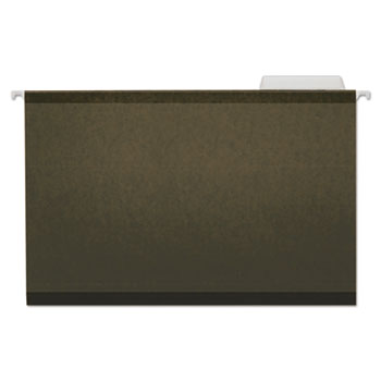Universal® Deluxe Reinforced Recycled Hanging File Folders, Legal Size, 1/3-Cut Tab, Standard Green, 25/Box