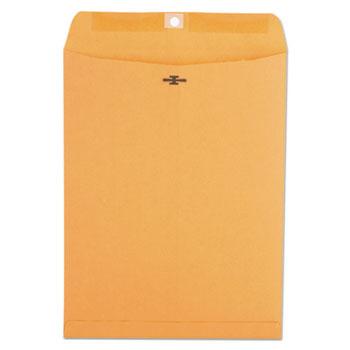 Kraft Clasp Envelope, #93, Square Flap, Clasp/Gummed Closure, 9.5 x 12.5, Brown Kraft, 100/Box