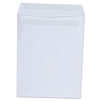 Self-Stick Open-End Catalog Envelope, #10 1/2, Square Flap, Self-Adhesive Closure, 9 x 12, White, 100/Box