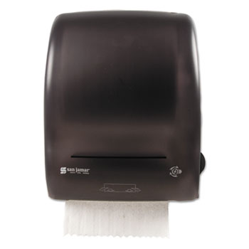 "San Jamar® Simplicity Mechanical Roll Towel Dispenser, 15.25"" x 13"" x 10.25"", Black"