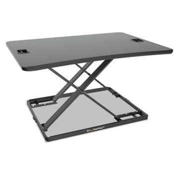 "AdaptivErgo Ultra-Slim Sit-Stand Desk, 31.33"" x 22"" x 15.75"", Black"