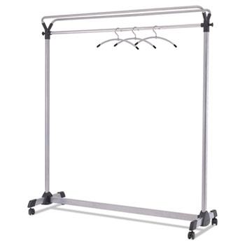 "Large Capacity Garment Rack, 63 1/2"" x 21 1/4"" x 67 1/2"", Black/Silver"
