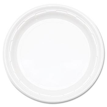 "Dart® Plate, Plastic, 10 1/4"", White, Famous Service®, 500/CT"