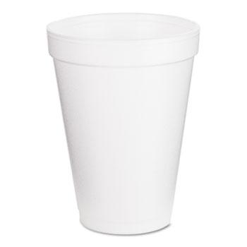 Cups, Foam, 12oz, White, 25/Pack, 40 Packs/CT