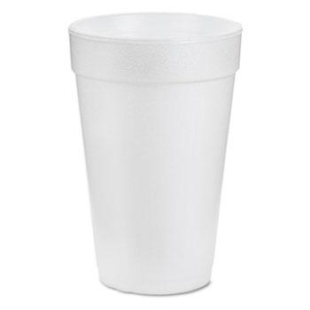 Cups, Foam, 16oz, White, 25/Pack, 40 Packs/CT