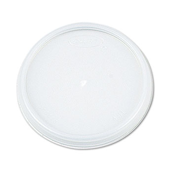 Dart® Lids, Plastic, 16oz Foam Cups, Translucent, 100/Pack