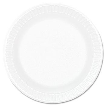 """Dart® Plate, Concorde Foam, 6"""", White, 1000/Carton"""