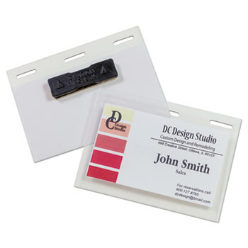 "Self-Laminating Magnetic Style Name Badge Holder Kit, 3"" x 4"", Clear, 20/Box"