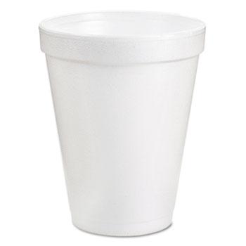 Cups, Foam, 8oz, White, 25/Pack