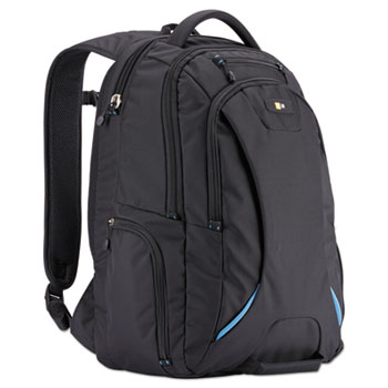 "Case Logic® 15.6"" Checkpoint Friendly Backpack, 2.76"" x 13.39"" x 19.69"", Polyester, Black"