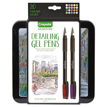 Signature Detail Gel Pens, 20/ST