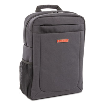 """Cadence Slim Business Backpack, Holds Laptops 15.6"""", 4.5"""" x 12"""" x 17"""", Charcoal"""