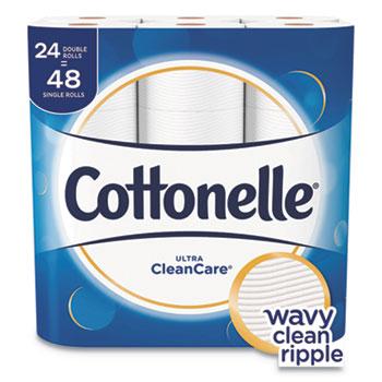 Ultra CleanCare Toilet Paper, Strong Tissue, 1Ply, 170 Sht/RL, 24 RL/PK, 2 PK/CT