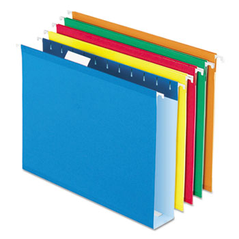 Pendaflex® Extra Capacity Reinforced Hanging File Folders with Box Bottom, Letter, Assorted