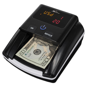 Royal Sovereign Quick Scan Counterfeit Detector, Liquid; MICR, U.S. Currency, Black