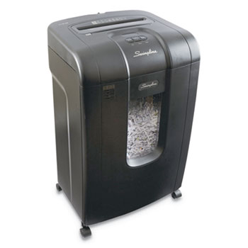 SX19-09 Super Cross-Cut Jam Free Shredder, 19 Sheet Capacity, Black