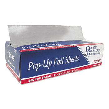 "Pop-Up Foil Sheets, 12"" x 10 3/4"", 3000/Carton"