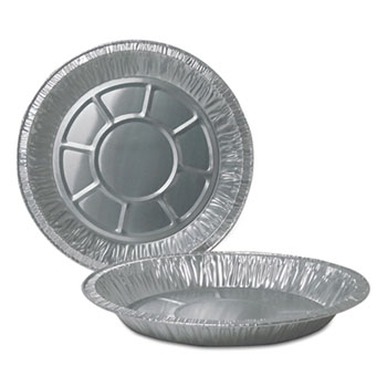 "Durable Packaging Aluminum Pie Pans, 11 1/8"" dia, Silver, 500/Carton"