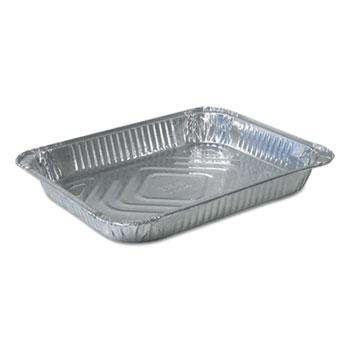 Durable Packaging Aluminum Steam Table Pans, 10 3/8w x 1 11/16d x 12 3/4h, Silver, 100/Carton
