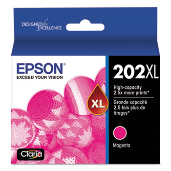 Epson® T202XL320S (202XL) Claria Ink, 470 Page-Yield, Magenta
