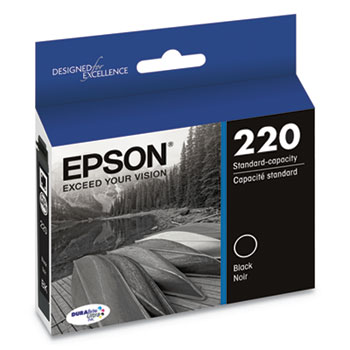 Epson® T220120S (220) DURABrite Ultra Ink, 175 Page-Yield, Black