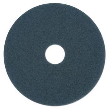 "Boardwalk® Scrubbing Floor Pads, 14"" Diameter, Blue, 5/Carton"