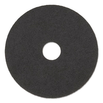 "Boardwalk® High Performance Stripping Floor Pads, 19"" Diameter, Grayish Black, 5/Carton"