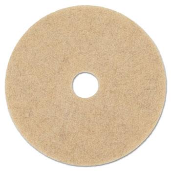 """Boardwalk® Natural Hog Hair Burnishing Floor Pads, 19"""" Diameter, 5/Carton"""