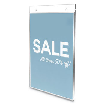 """deflecto® Classic Image Wall Sign Holder, 8 1/2"""" x 11"""", Clear Frame, 12/Pack"""