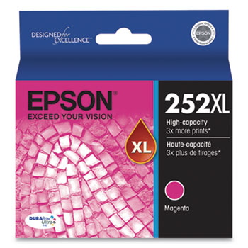 Epson® T252XL320S (252XL) DURABrite Ultra High-Yield Ink, 1100 Page-Yield, Magenta
