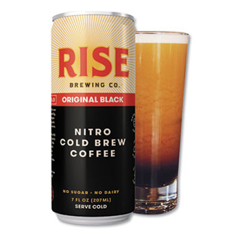 RISE Brewing Co.® Original Black Nitro Cold Brew Coffee, 7 oz. Can, 12/CT