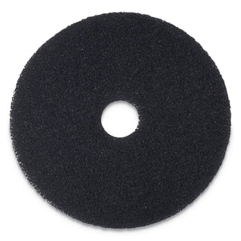 "Stripping Floor Pads, 18"" Diameter, Black, 5/Carton"