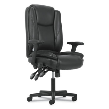 Sadie™ High-Back Executive Chair, Black Leather