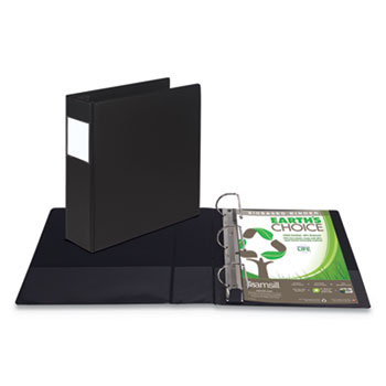 "Earth's Choice Biobased Locking D-Ring Reference Binder, 4"" Capacity, 11 x 8 1/2"