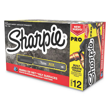 Sharpie® Sharpie PRO, Fine Point, Black, Dozen