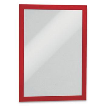 "DURAFRAME Sign Holder, 8 1/2"" x 11"", Red Frame, 2/Pack"