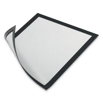"DURAFRAME Magnetic Sign Holder, 8 1/2"" x 11"", Black Frame, 2/Pack"