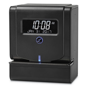 Lathem® Time Heavy-Duty Thermal Time Clock, Charcoal