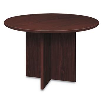 HON® Foundation Round Conference Table, 47 Dia x 29 1/2h, Mahogany