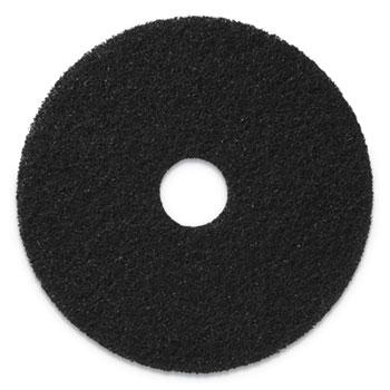 "Americo® Stripping Pads, 13"" Diameter, Black, 5/CT"