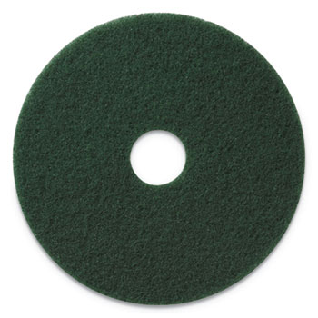 "Americo® Scrubbing Pads, 13"" Diameter, Green, 5/CT"