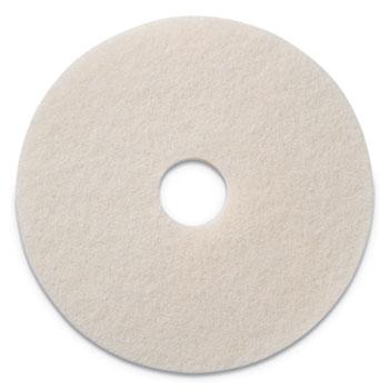 "Americo® Polishing Pads, 17"" Diameter, White, 5/CT"