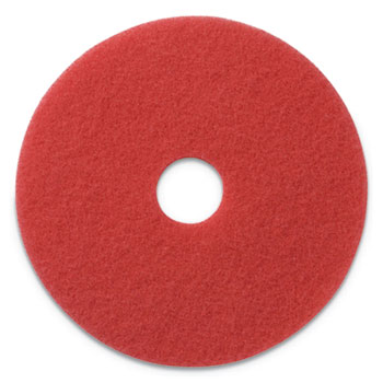 """Americo® Buffing Pads, 17"""" Diameter, Red, 5/CT"""