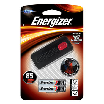 Energizer® Cap Light, 2 AAA (Included), 85 Lm, Black