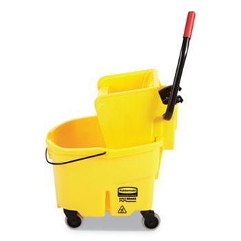 Rubbermaid® Commercial Wavebrake 2.0 26 Quart Bucket/Wringer Combinations, Side-Press, Yellow
