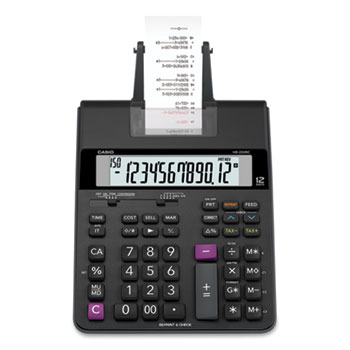 Casio® HR200RC Printing Calculator, 12-Digit, LCD