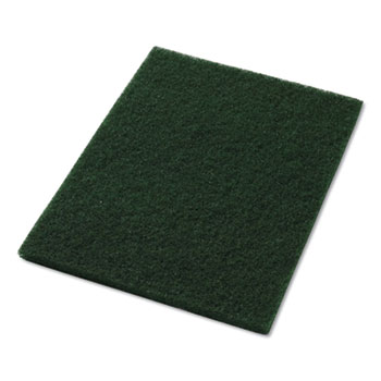 """Scrubbing Pads, 14"""" x 28"""", Green, 5/Carton"""